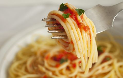 spaghetti with jarred sauce