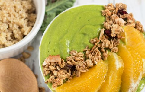 Orange Kale Quinoa Smoothie Bowl