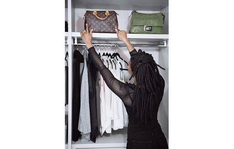 woman in closet