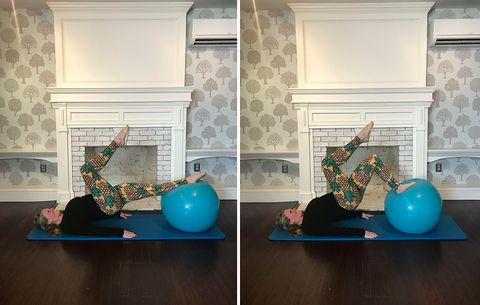 glute exercises with stability ball