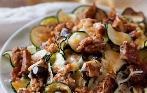 Meatless Zucchini Nachos