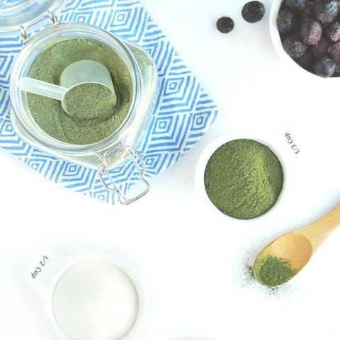 DIY green protein powder
