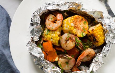 Shrimp Veggie Foil Packets