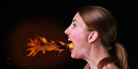 woman heartburn