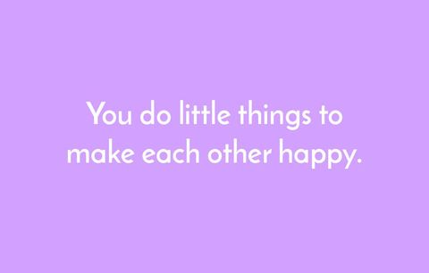 littles things to make each other happy