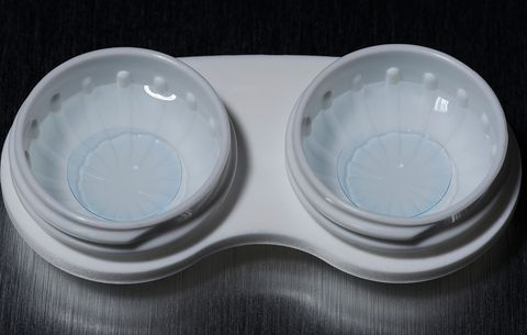 Using the same old contact lens case