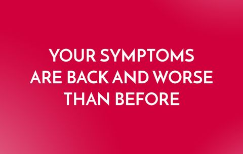 Rebound symptoms