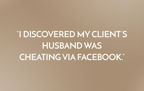 My client's husband was cheating via Facebook