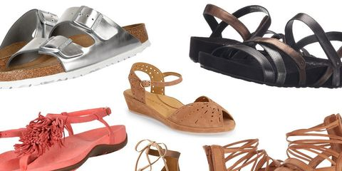 Comfortable walking sandals for summer travel