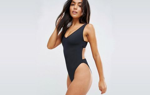 ASOS Fuller Bust Exclusive Plunge Side High Leg Swimsuit