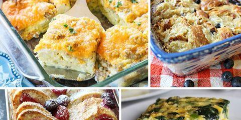 Healthy breakfast casseroles