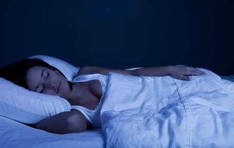 Blue light when sleeping