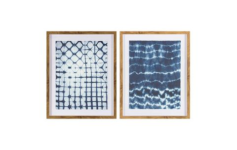 """Framed Pattern Abstract Blue 24""""x30"""" 2-Pack -Threshold"""