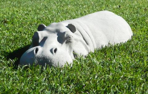 garden hippo ornament