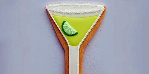 A martini shaped novelty cookie cutter