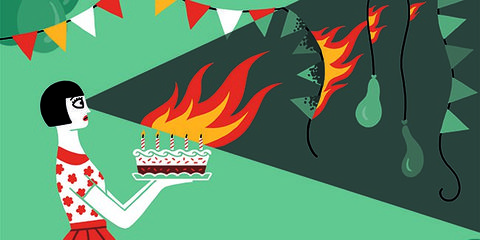 Red, Colorfulness, Cake, Cartoon, Dessert, Graphics, Artwork, Illustration, Baked goods, Animation,
