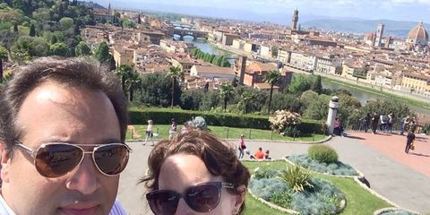 Richard and Suzanne traveling through Italy