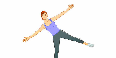 standing star exercise