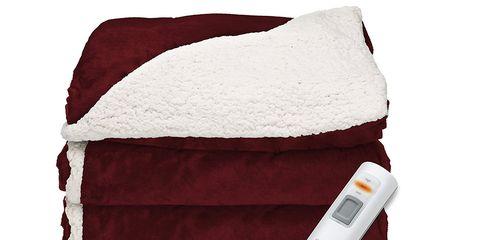 sherpa mink heated blanket