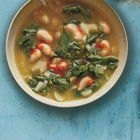 Rosemary, Bean & Mustard Green Soup