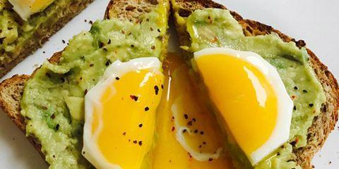 egg yolk avo toast