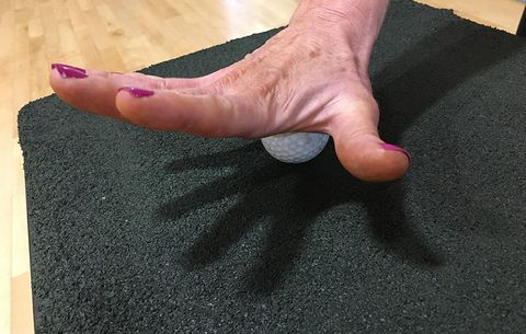 golf ball hand roll exercise