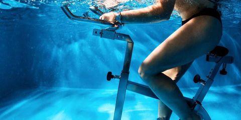 underwater spin class, aqua spin