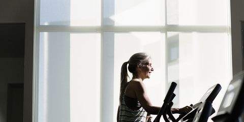 woman on cardio machine