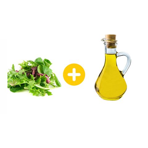 leafy greens and olive oil