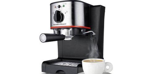 Espresso machine, Small appliance, Home appliance, Coffeemaker, Drip coffee maker, Kitchen appliance, Espresso, Coffee grinder, Cup, Coffee,