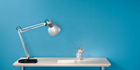 office lightbulbs may be linked to skin cancer; office lamp