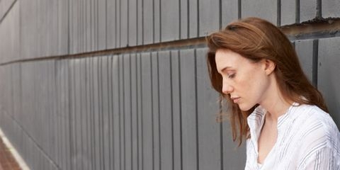 PTSD can afflict natural disaster survivors; depressed woman