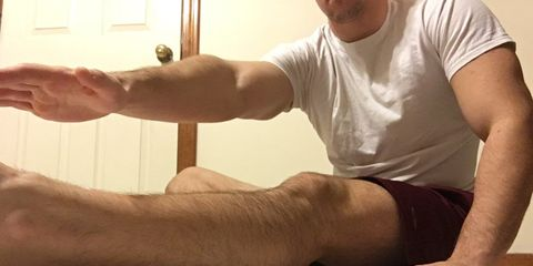 Knee to thigh stretch