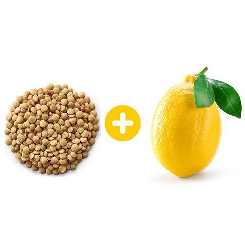 lentils and lemon