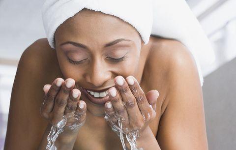 not washing face