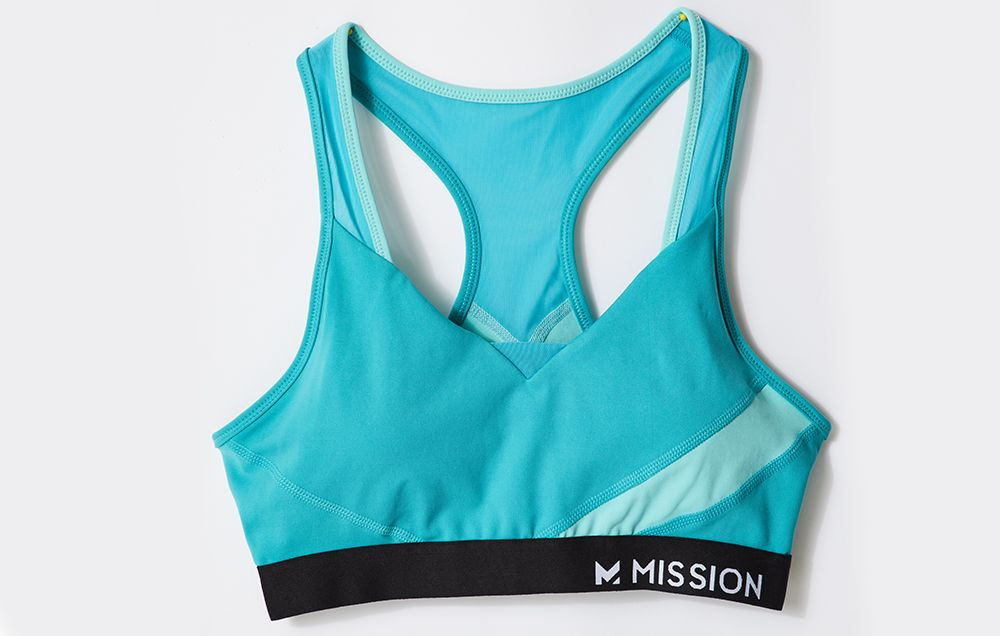 Women/'s RBX Active Maximum Support Padded Athletic Sports Bra Navy Pink Size S