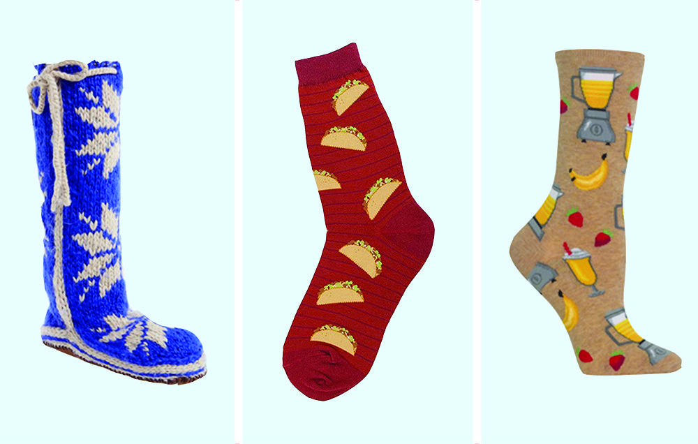 Hot Sox Women/'s Mr Claus Non-Skid Crew Trouser Sock and Mrs