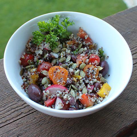 Food, Salad, Cuisine, Ingredient, Vegetable, Dishware, Tableware, Produce, Leaf vegetable, Serveware,