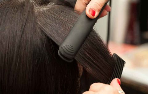 Heat styling your hair without any protection