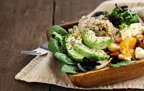 Quinoa salad with avocado