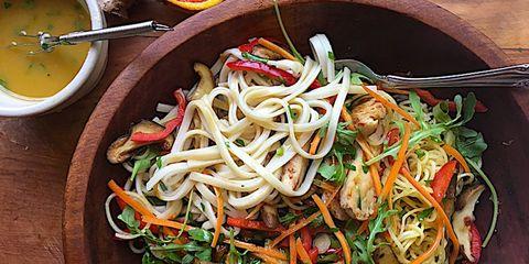 spiralized asian chicken salad