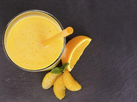 Smoothie citron-orange et agrumes
