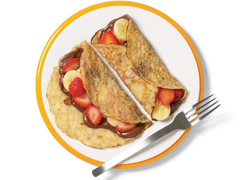 Crêpes with Strawberries, Bananas, and Nutella