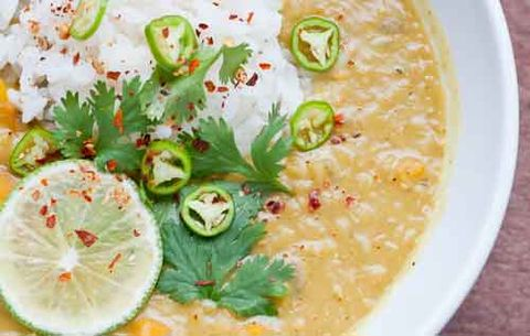 thai coconut lentil soup