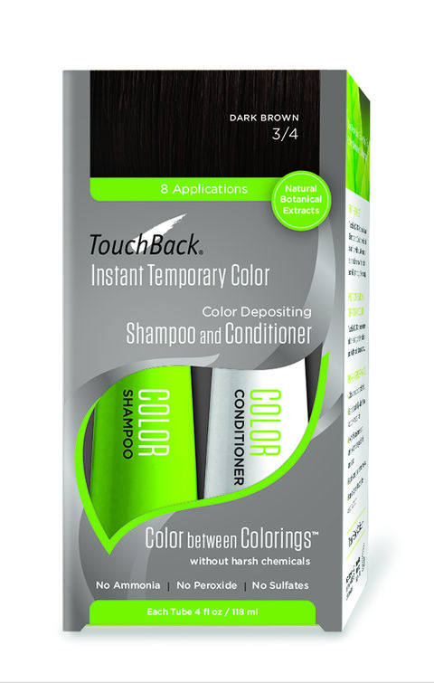 Hair tinting products with no dye, TouchBack Color Depositing Shampoo and Conditioner