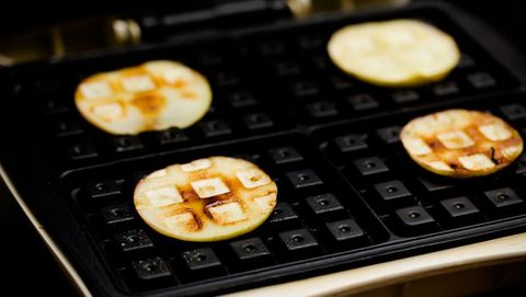 waffled apple slices