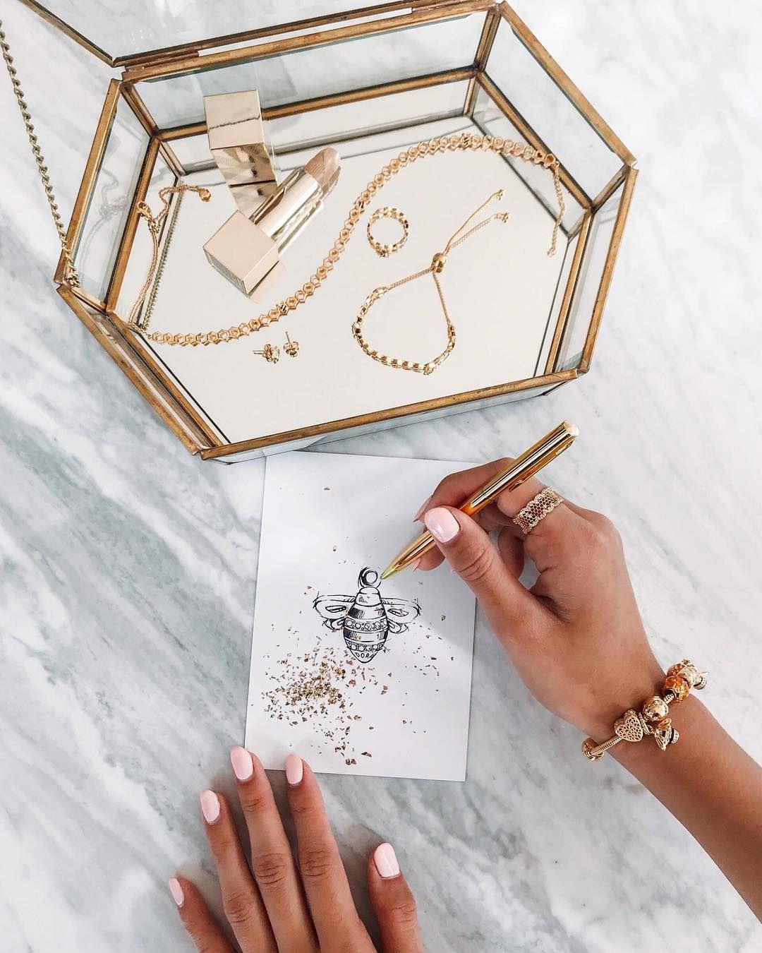 Pandora Shine系列,串飾,戒指,項鍊, 金色串飾