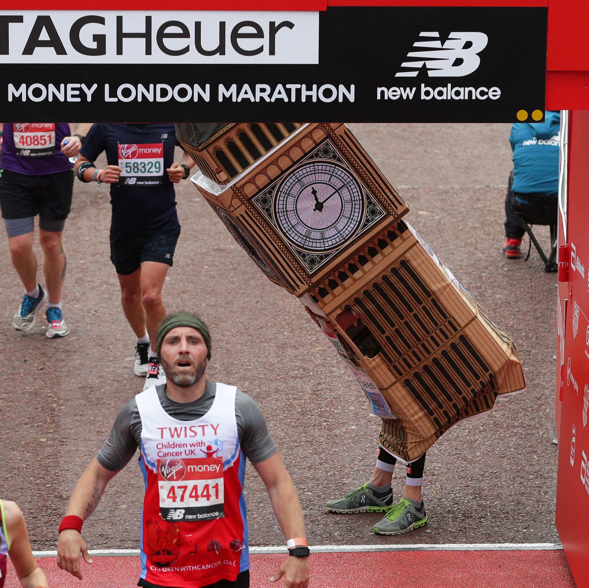 'Big Ben' London 2019 runner has costume stolen from outside a pub