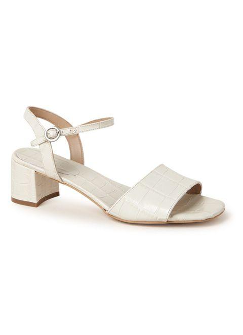 Footwear, White, Sandal, Beige, Shoe, Slingback, Strap,