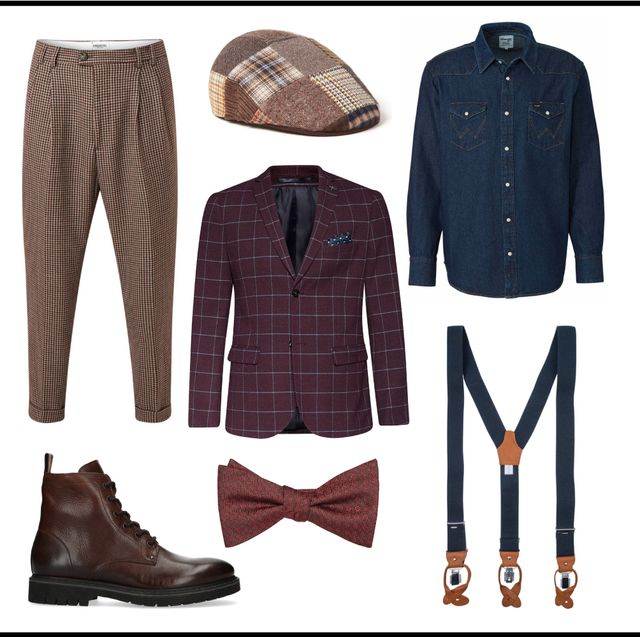 Clothing, Fashion, Footwear, Outerwear, Brown, Denim, Jacket, Font, Shoe, Textile,